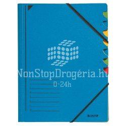 Rendezőmappa 7 rekesz gumis Leitz kék 39070035