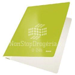 Gyorsfűző karton Leitz lakkfényű - zöld