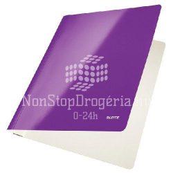 Gyorsfűző karton Leitz lakkfényű - lila