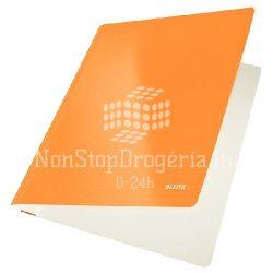 Gyorsfűző karton Leitz lakkfényű - narancssárga