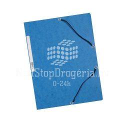 Iratgyűjtő gumis A/4 prespán Q-Connect kék
