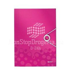 Iratgyűjtő A/4 gumis PP WOW rózsaszín