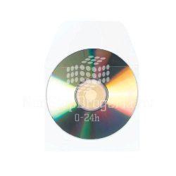 CD/DVD tároló tok ráhajtható lezáró-füllel 3L 127×127mm 10db/csom