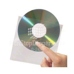 CD/DVD tároló tok öntapadós 3L 127×127mm 10db/csom