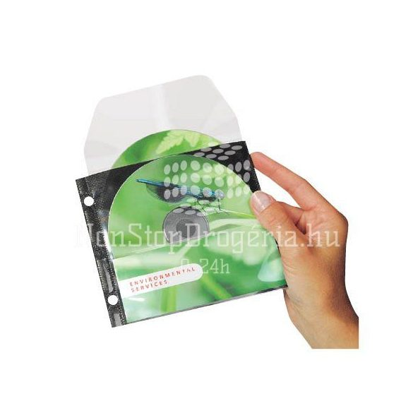 CD/DVD tároló tok lefűzhető 3L 140x124mm 25db/csom