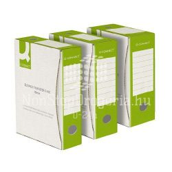 Archiválódoboz 80mm zöld-fehér Q-Connect KF15834