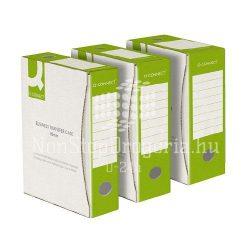 Archiválódoboz 100mm zöld-fehér Q-Connect KF15840