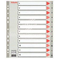 Regiszter A/4 1-12 műanyag Maxi 100125