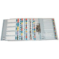 Regiszter A/4 karton jan-dec reg. Mylar 100165