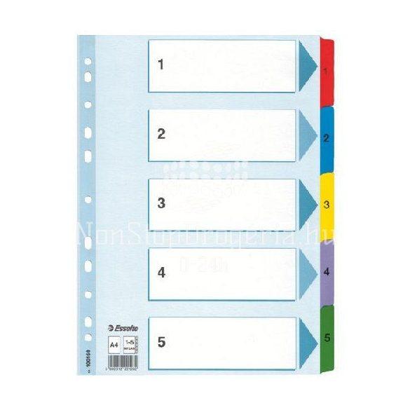 Regiszter A/4 karton 1-5 reg. Mylar 100160