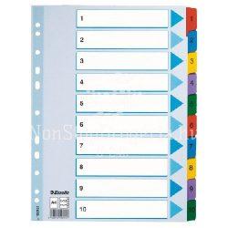 Regiszter A/4 karton 1-10 reg. Mylar 100161