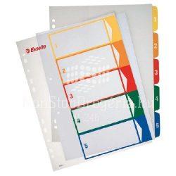 Regiszter  A/4 MAXI PP 1-5 nyomtatható 100211