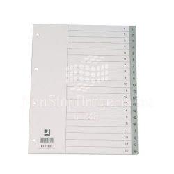 Regiszter A/4 1-31 szürke PP maxi KF02296