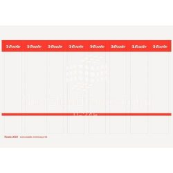 Iratrendező cserecímke 5cm-es iratrendezőkhöz, nyomtatható 50db-os Esselte 20821