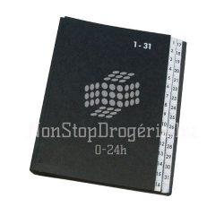 Rendezőkönyv 1-31 fekete KF04564
