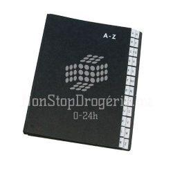 Rendezőkönyv  A-Z fekete KF04563