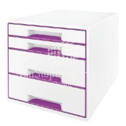 Irattartó 4 fiókos WOW Desk Cube Leitz 521310..