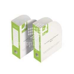 Iratpapucs 100mm karton zöld-fehér Q-Connect KF15847