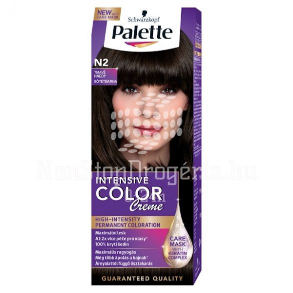 Palette hajfesték Intensive Color Creme N 2 sötétbarna