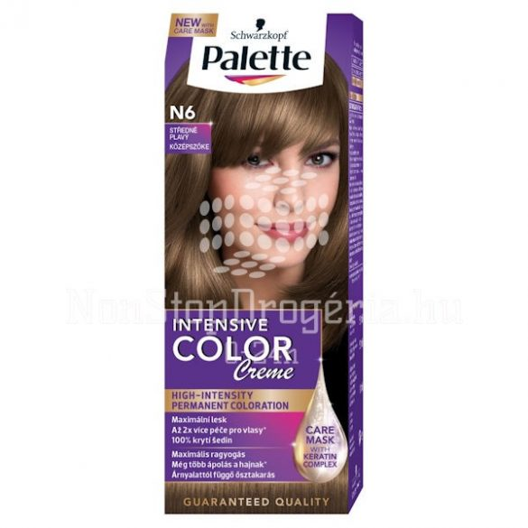 Palette hajfesték Intensive Color Creme N 6 középszőke