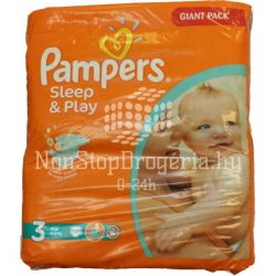 Pampers Sleep and Play 3 midi (4-9Kg) pelenka 100db