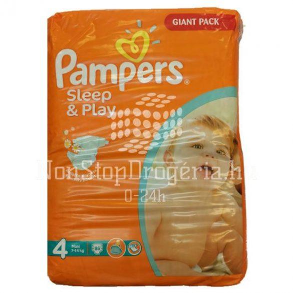 Pampers Sleep and Play 4 maxi (7-14Kg) pelenka 86db