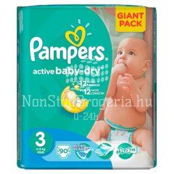 PAMPERS ACTIVE BABY DRY PELENKA MIDI 4-9KG 90DB