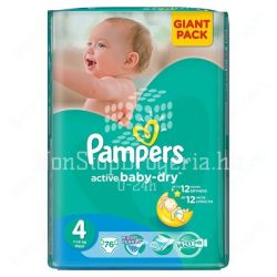 PAMPERS ACTIVE BABY DRY PELENKA MAXI 7-14KG 76DB