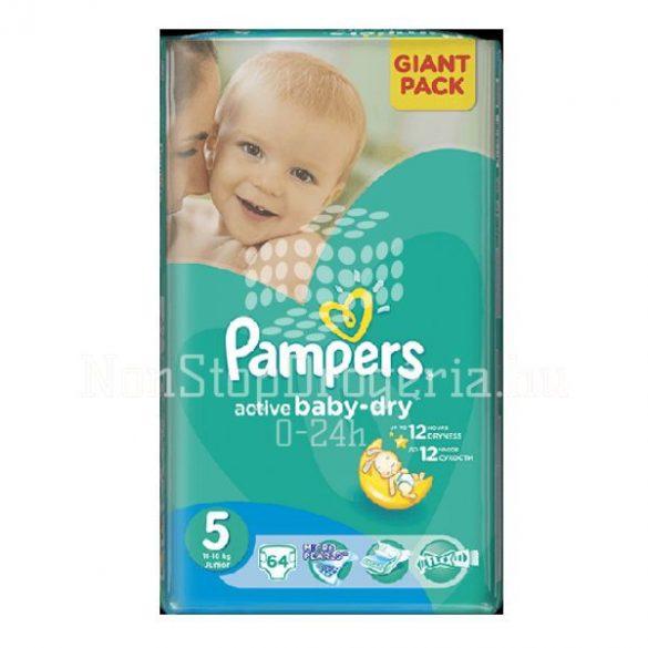 PAMPERS ACTIVE BABY DRY PELENKA JUNIOR 11-18KG 64DB