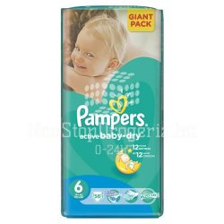 PAMPERS ACTIVE BABY DRY PELENKA EXTRA LARGE 15KG+ 56DB