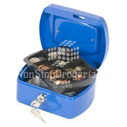 Pénzkazetta 15,5x12x7,5 cm Q-Connect / Wedo 145.1 kék