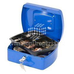 Pénzkazetta 20,5x16x8,5cm Q-Connect / Wedo 145.2 kék