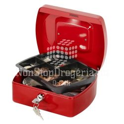 Pénzkazetta 20,5x16x8,5cm Q-Connect / Wedo 145.2 piros