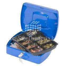 Pénzkazetta 25,5x20x8,5cm Q-Connect / Wedo 145.3 kék
