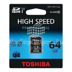 Memóriakártya TOSHIBA SDXC Class 10 64GB