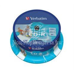 CD-R Verbatim 700MB 52x nyomtatható matt 25db/henger 43439