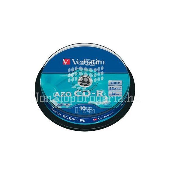 CD-R Verbatim 700MB 52x (DataLife) 10db/henger EXTRA 43437