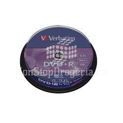 DVD+R Verbatim 4,7GB 16x 10db/henger 43498
