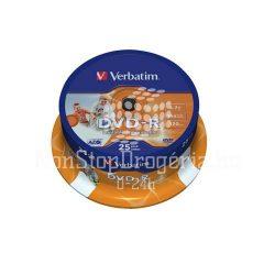 DVD-R Verbatim 4,7GB 16x nyomtatható 25db/henger 43538