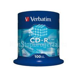 CD-R Verbatim 700MB 52x (Datalife) 100db/henger 43411