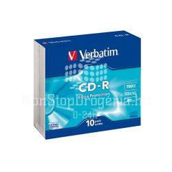 CD-R Verbatim 700MB 52x (DataLife) 10db slim EXTRA 43415