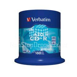 CD-R Verbatim 700MB 52x 100db/henger AZO 43430