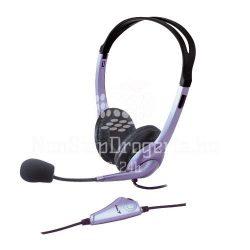 Fejhallgató mikrofonnal Genius HS-04S