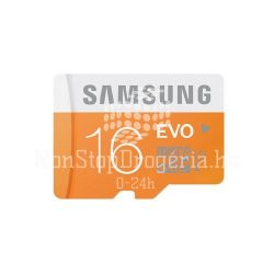 Memóriakártya SAMSUNG EVO 16GB microSD+adapter