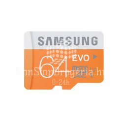 Memóriakártya SAMSUNG EVO 64GB microSD+adapter