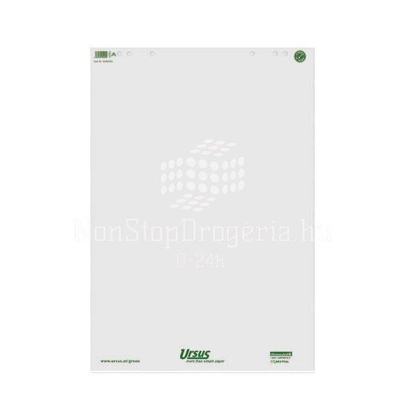 Flipchart papír sima 68x99cm 80g 20lap/tömb újrahasznosított papírból
