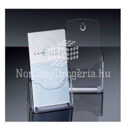 Prospektustartó 125x200x75mm 1részes asztali Sigel LH113