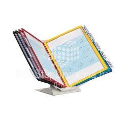 Bemutatótáblatartó10 panellel asztali Durable Vario 5570