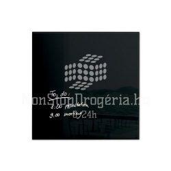 Üvegtábla mágneses 480x480x15 mm fekete