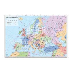 Falitérkép fémléccel 100x70cm Európa országai
